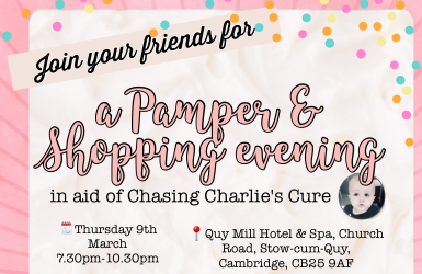 Pamper & Shopping Evening (Cambridge, UK) - Thu 9 Mar 2017