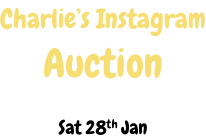 Charlie's Instagram Auction  Sat 28th Jan